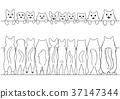 벡터, 흑백, 舌なめずり 37147344