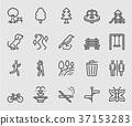 Park outdoor line icon 37153283