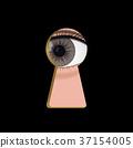keyhole eye vector 37154005