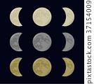 Yellow, gray and white moon. 37154009