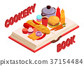 Culinary Book Isometric Composition 37154484
