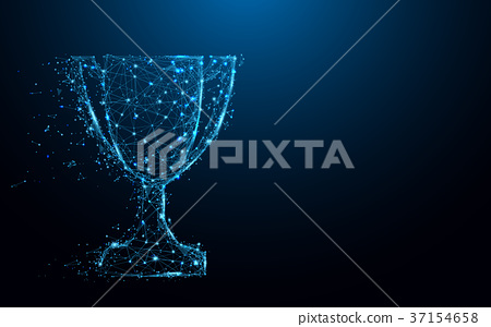 Abstract Trophy cup form lines and triangles 37154658