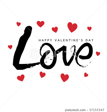 Happy Valentines Day Greeting card 37155347