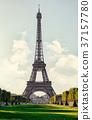 Eiffel Tower Sepia 37157780