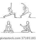 Set, yoga, woman 37165183