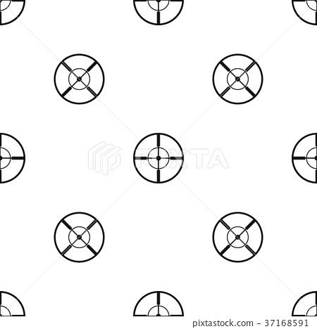 Aim pattern seamless black 37168591