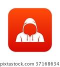 Hood icon digital red 37168634