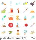 Handicraft icons set, cartoon style 37168752