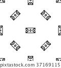Futsal or indoor soccer field pattern seamless black 37169115