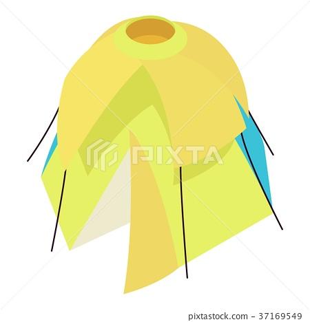 Yellow tent icon, isometric 3d style 37169549