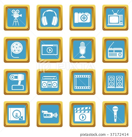 Audio and video icons azure 37172414