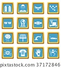 azure, icons, vector 37172846