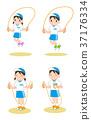 跳繩練習 37176334