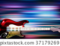 background electric guitar 37179269