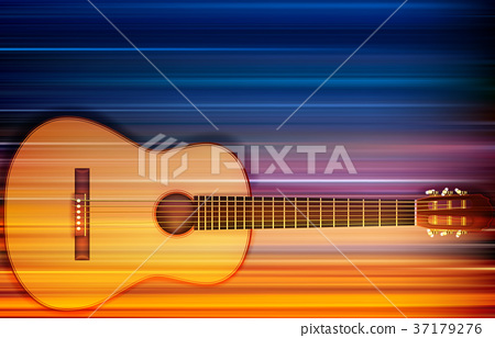 abstract background with acoustic guitar 37179276