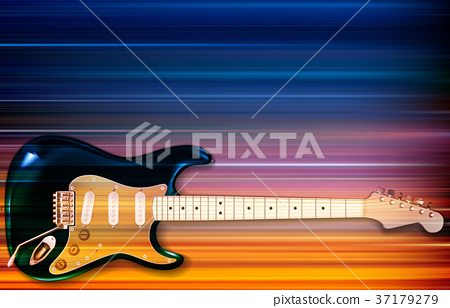 abstract background with electric guitar 37179279