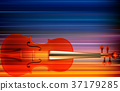 abstract grunge music background with violin 37179285