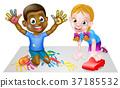 Kids Playing 37185532