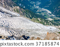 Bossons Glacier from the summit of the Aiguille  37185874