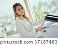 office, woman, photocopier 37187463