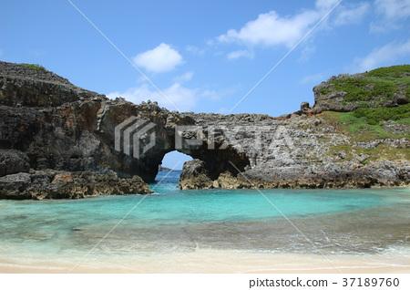 오가사와라 남섬의 부채 연못 37189760