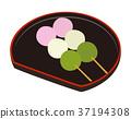 三色饺子 团子 串烧丸子 37194308