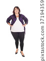 Full figured woman standing in tights 37194359