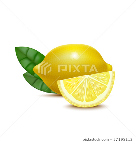 Realistic Detailed 3d Whole Lemon and Slices 37195112