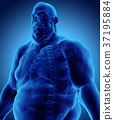 3d illustration Male Fat, healthcare concept. 37195884