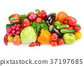 Fruit and vegetable isolated on white background. 37197685