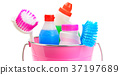 Set of household chemicals, bucket and brushes  37197689