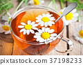 cup of tea with chamomile flowers 37198233