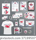 Soccer, football sport corporate identity template 37199507