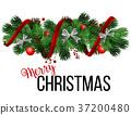 christmas, border, tree 37200480