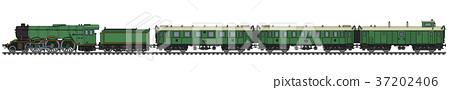 The vintage passenger steam train 37202406