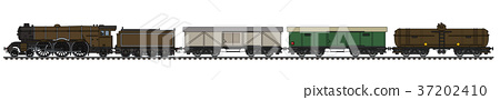 The vintage freight steam train 37202410