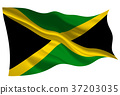 Jamaica flag flag icon 37203035