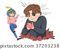 RF illustration - cartoon for special day of cupple 009 37203238