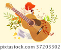 Autumn object illustration - pumpkin, flowes, guitar, book, postcard and etc. 009 37203302