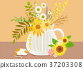 Autumn object illustration - pumpkin, flowes, guitar, book, postcard and etc. 008 37203308