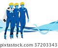 illustration of member of the national team for winter olympics, medalists and athlete 010 37203343