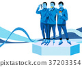illustration of member of the national team for winter olympics, medalists and athlete 003 37203354