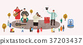Vector of an outdoor performance, people who enjoy performance 007 37203437