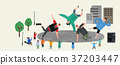 Vector of an outdoor performance, people who enjoy performance 009 37203447