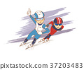 Vector, Heroes of the Olympics, the winter Olympic 002 37203483
