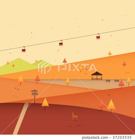 Vector of autumn beautiful landscape 006 37203535