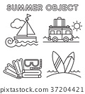 Set of Summer object 009 37204421
