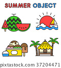 Set of Summer object 002 37204471