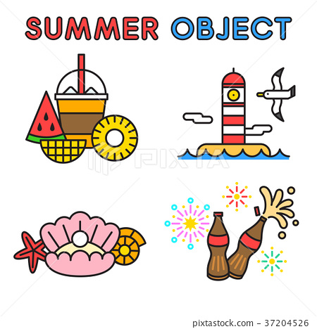 Set of Summer object 022 37204526