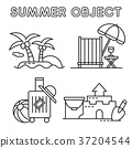 Set of Summer object 005 37204544